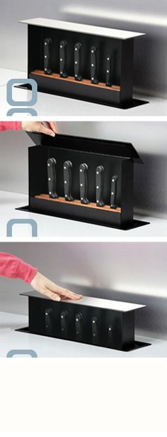 The S-BOX in action. it's a knife box that you build into the counter!