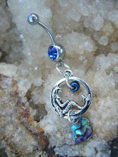 abalone mermaid belly ring mermaid siren charm by gildedingypsy