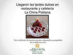 Las tardes aqui en La Quinta Inn&Suites Puebla son dulces!! Ven a disfrutar de nuestros deliciosos postres artesanales y una taza de café solo aquí. Te esperamos!!