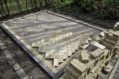 Bricks used as tiles. # wooden Greenhouse.