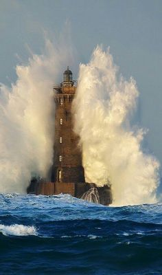 The Famous Lighthouse near Brittany, France