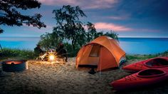 Camp And Canoe The Great Lakes And Rivers Of Michigan