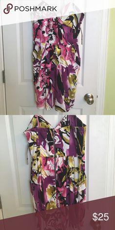 Dress Never worn Snap floral print party dress Snap Dresses Mini