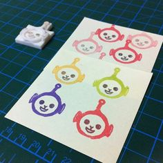 teletubbies stamp carving