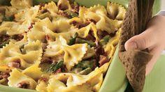 LOVE this recipe! Bow-tie pasta, asparagus, alfredo sauce, Mezzetta Sun-Ripened Dried Tomatoes and Chicken.  Make it ASAP!!