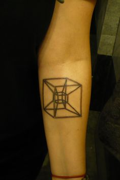 my first tattoo - tattoo tesseract scifi first  (click to view a larger image...)