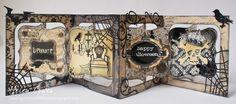 The Dining Room Drawers: Tim Holtz & Karen Burniston Halloween Accordion Album Card