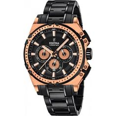 New Festina Special Edition Chronograph Watch Gender - Men& Features - Water Resistant, Water Resistance Rating - 100 m ATM), Year of Manufacture - Herren Chronograph, Junghans, Best Watches For Men, Sell Gold, Watch Case, Color Negra, Casio Watch, Gold Watch, Rolex Watches
