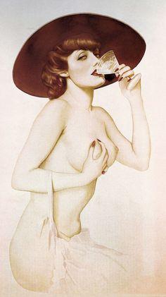 Alberto Vargas: Happy Hour, c. 1936, Pin-Up Art, Credit: Girl-O-Matic