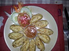 Momos in the mountains.