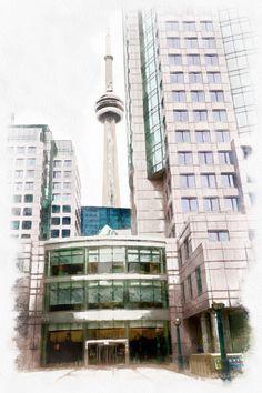 Toronto. Processed with Dynamic Auto Painter www.mediachance.com
