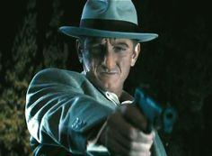 "2013 in film: Sean Penn in ""Gangster Squad"" Mafia Gangster, Gangster Movies, Mickey Cohen, Sean Penn, Bonnie N Clyde, Tough Guy, Celebrity Red Carpet, Double Take, Film Stills"