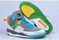 official photos a29d5 d9130 Buy Big Discount Nike Air Jordan Spizikes Homme Gris Bleu Vert Blanc PhSHF  from Reliable Big Discount Nike Air Jordan Spizikes Homme Gris Bleu Vert Blanc  ...