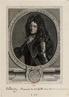 François de Neufville, 2ème. Duc de Villeroy, Maréchal de France, 1644-1730.