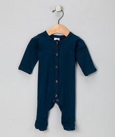 Another great find on #zulily! Navy Blue Footie - Infant by Luca Charles #zulilyfinds