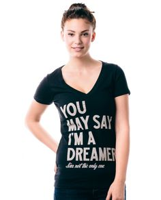 sevenly.org  womens v-neck T-shirt You may say I'm a dreamer John Lennon the Beatles