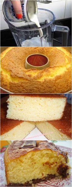 Bolo sem Farinha de Trigo!! VEJA AQUI>>>Quebre os ovos e retire a película das gemas. Coloque no liquidificador os ovos, o leite condensado, e bata por cerca de 3 minutos. #receita#bolo#torta#doce#sobremesa#aniversario#pudim#mousse#pave#Cheesecake#hocolate#confeitaria