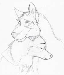 Balto + Jenna for Xaqtly by ANBU-Flashez on DeviantArt Pencil Art Drawings, Art Drawings Sketches, Disney Drawings, Cartoon Drawings, Easy Drawings, Animal Drawings, Balto And Jenna, Cartoon Wolf, Wolf Artwork