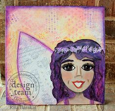 Hello artsy peeps! Rita Barakat here with a mixed media project for ya! Since I got the Glass Bead Glitter gel I knew I wanted to make an angel! So grab your supplies and lets get to it! First of all, I always draw my picture then go from there.... Ritabarakat.com