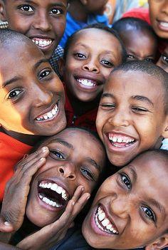Happy boys in Ethiopia