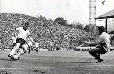 West Germany 4 Uruguay 0 in 1966 at Hillsborough. Franz Beckenbauer made it on 70 minutes in the World Cup Quarter Final. 1966 World Cup Final, Michael Owen, Bastian Schweinsteiger, Young Guns, International Football, Goalkeeper, Sheffield Wednesday, England, Running