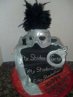 Fifty Shades of yummy! birthday cake