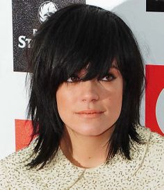 Lily Allen - totally love the choppiness, bangs a little too long for me, hate hair in my eyes