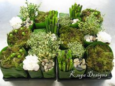 beautiful nature inspired centerpieces