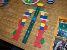 Symmetry using a ruler and pattern blocks