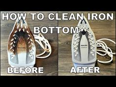 How to clean iron Easy way to get your flat iron like new again. Ingredients needed: toothpaste, baking soda, vinegar. You will have to mix them into a paste. Household Cleaning Tips, Car Cleaning, Diy Cleaning Products, Cleaning Hacks, How Do You Clean, How To Clean Iron, Cleaning Iron Plate, Iron Cleaning, Clean Plates