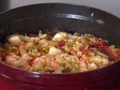 Gulf Shrimp Jambalaya from FoodNetwork.com Made this last night for dinner! Delicious!! Instead of water to make the shrimp stock, I used chicken stock. I guess that made it chicken/shrimp stock. In any case...more flavor...and I would do it that way again next time.