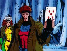Gambit X-Men Cartoon | Gambit X Men Animated Series X-men cartoon screenshot.