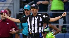 Sarah Thomas to make history as first woman to officiate NFL playoff game — CBS News Football And Basketball, College Basketball, I In Team, Nfl Playoffs, Nfl History, Referee, Cbs News, Girl Power, Athlete