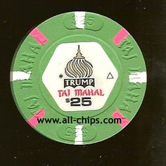 #AtlanticCityCasinoChip of the day is a $25 Trump Taj Mahal 2nd issue you can get here http://www.all-chips.com/ChipDetail.php?ChipID=6674 #CasinoChip #Trump