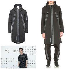 fc605177383c PUMA x UEG Hooded Parka Long Jacket Coat Black 571716-01 Men s Medium New   400