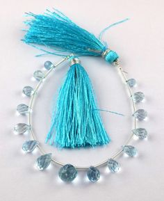 Fabulous 1 Strand Natural Aquamarine Faceted Tear Drops Loose Gemstone Beads  #Raagarw
