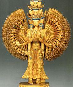 チベット 十一面千手千眼観音菩薩立像-(国家一級文物)01