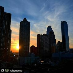 Photo by @robynsnyc: Tonight's #sunset over #nyc
