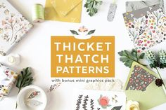Thicket Thatch Patterns by Denise Anne on @creativemarket