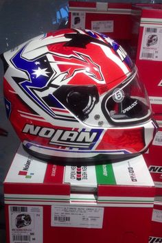 Authorised Distributors of  Nolan Helmets in India  Model - Nolan N 64 Casey Stoner GEMINI REPLICA • 70 • Mrp - 18,000