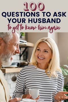These questions to ask your husband can help you get to know him better if you feel you need to reconnect. These questions are fun, intimate or even a little controversial and can spark conversations and lead to surprising revelations that can have you two falling in love all over again. Free printable download! 100 Questions To Ask, Funny Questions, Couple Questions, This Or That Questions, Relationship Questions, Couple Relationship, Intimacy In Marriage, Love And Marriage, Getting To Know You