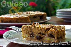 Para o #lanche ou festa junina faça uma deliciosa e rápida Torta de Banana com Aveia. Ainda pode usar bananas maduras!  #Receita aqui => http://www.gulosoesaudavel.com.br/2013/07/05/torta-banana-aveia/