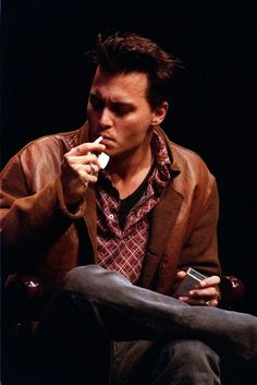 Johnny depp! One of the few people on earth who is Sexy, even while lighting up a cigarette, and being damn proud of it! :-))) LOL!