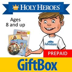 Holy Heroes Subscription: Ages 8 and up. Monthly delivery of Holy Heroes products!
