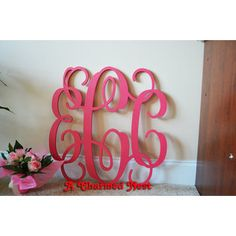 Reasonably Priced Monogram Wood Letters And Other Monogrammed - Monogram wall decals wood