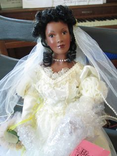 Paradise Galleries Treasury Collection Amber African American Bride Doll #ParadiseGalleries