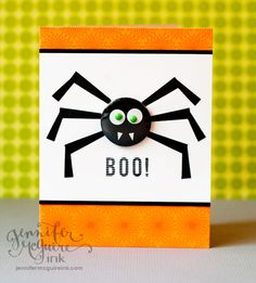 Boo! Using stamps in unexpected ways.