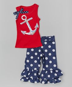Red & silver anchor