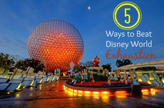 In one day at the Disney parks, you will walk an average of 10 miles. It can be so tiring!  Here are 5 Ways to Beat Disney World Exhaustion!