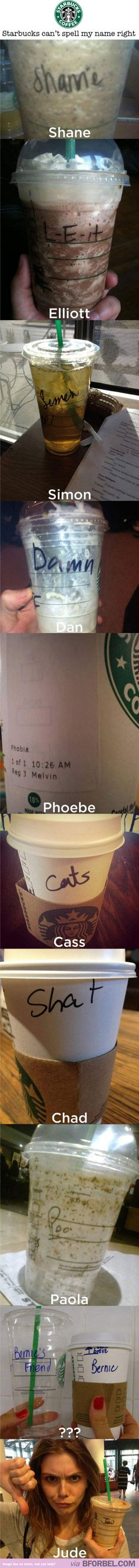 Starbucks can't spell names right…